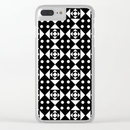 Symmetric triangle 21 Black and white Clear iPhone Case