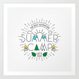 Summer Camp – Born for Adtentures Art Print