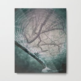 Spider Tree Metal Print