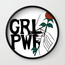 GRL PWR Rose Wall Clock