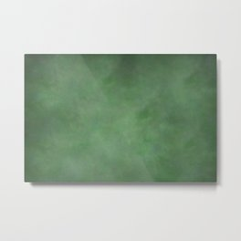 Abstract Soft Watercolor Gradient Ombre Blend 1 Deep Dark Green and Light Green Metal Print