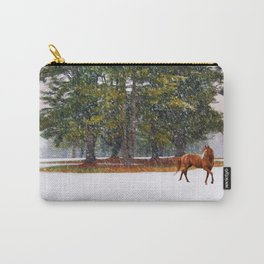 Winter in Horse Country Carry-All Pouch