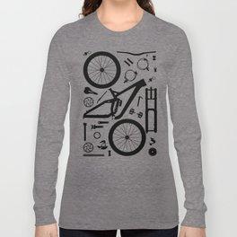 Downhill Bike Parts Long Sleeve T-shirt