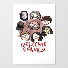 Welcome to the Family Canvas Print