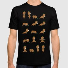 Yoga Bear X-LARGE Black Mens Fitted Tee