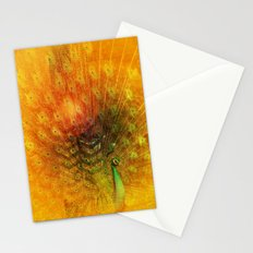 Peacock in Gold Stationery Cards