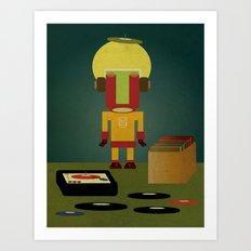Crate digging Art Print