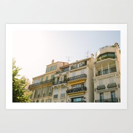 Cannes Streetscape Art Print