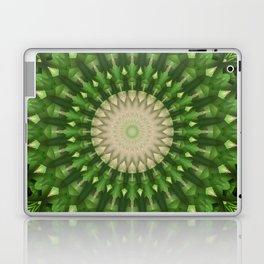 Mandala in vivid green color Laptop & iPad Skin
