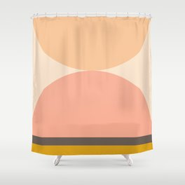 Abstraction_Mountains_Balance_ART_Landscape_Minimalism_001 Shower Curtain