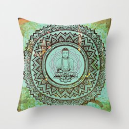 buddha lotus Throw Pillow