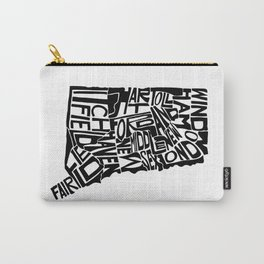 Typographic Connecticut Carry-All Pouch