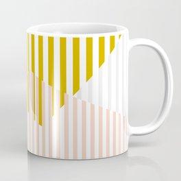 bauhaus - abstract mikado - mustard and blushpink Coffee Mug