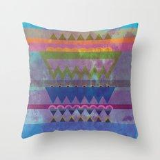 Old Fabric Throw Pillow