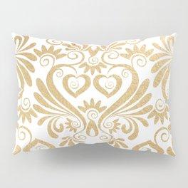Gold foil swirls damask 14 Pillow Sham
