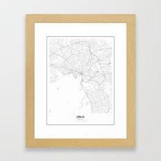 Oslo, Norway Minimalist Map Framed Art Print