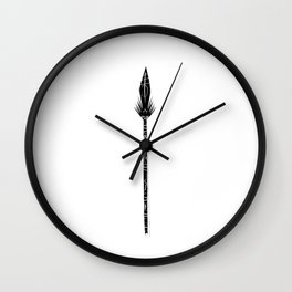 Tribal Spear Wall Clock