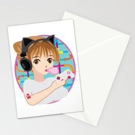 Typical Gamer Girl  Gaming Controller Nerdy Gift Stationery Cards