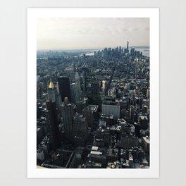 Looking down at NYC Art Print