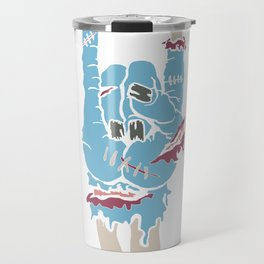 Zombie Hand Rocker Shirt Rock Heavy Metal Travel Mug