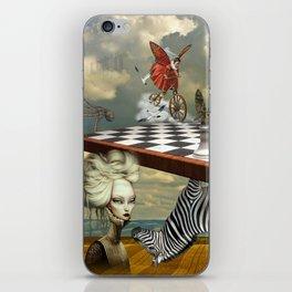 Zebra Upside Down iPhone Skin