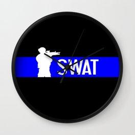 SWAT: Thin Blue Line Wall Clock