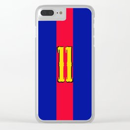 football team 1 number eleven Clear iPhone Case