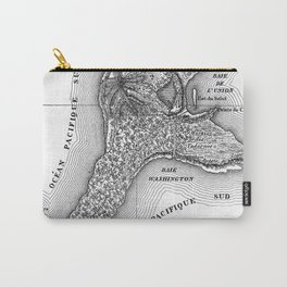 Map of the Mysterious Island - Jules Verne - Vintage Map Carry-All Pouch