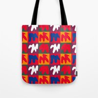 matisse Tote Bags featuring M for Matisse by CHOCOLORS