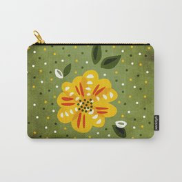 Abstract Yellow Primrose Flower Carry-All Pouch