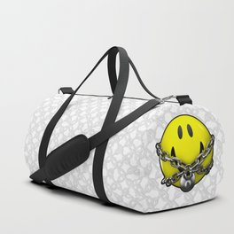 Quit Your Grinning / 3D chained up smiley Duffle Bag
