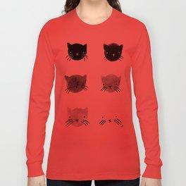 greyscale kitties Long Sleeve T-shirt