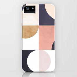 Geometric Moontime 1 iPhone Case