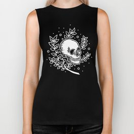 Growth With Departure ~ White Biker Tank