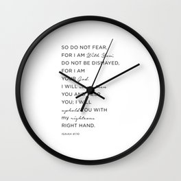 Isaiah 41:10 Bible Quote, Christian Gifts Wall Clock