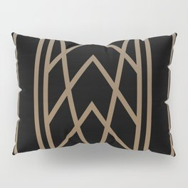 BLACK AND GOLD 2 (abstract art deco geometric) Pillow Sham