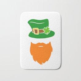 Leprechaun Beard Green Top Hat Shamrock St Patricks Bath Mat