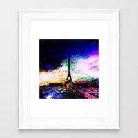 eiffel tower Framed Art Prints featuring eiffel tower by haroulita