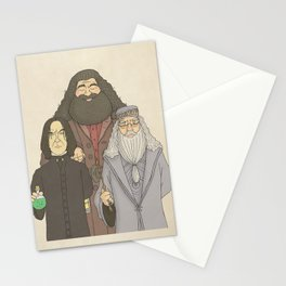 Hagrid, Snape and Dumbledore Stationery Cards