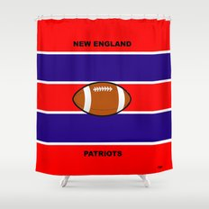 Patriots, AFC, Eastern Division, New England Shower Curtain