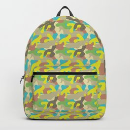Turquoise Camo Pattern Backpack