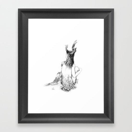 Sleeping Forest Framed Art Print