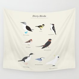 Dirty Birds Wall Tapestry