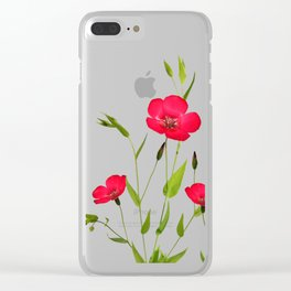 wild red flax Clear iPhone Case