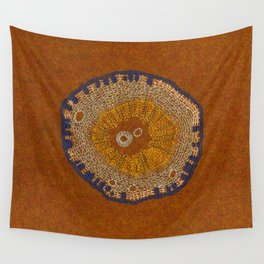 Growing - ginkgo - plant cell embroidery Wall Tapestry
