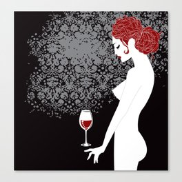 Redhead in anticipation Canvas Print