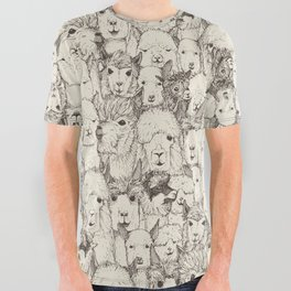 just alpacas natural All Over Graphic Tee
