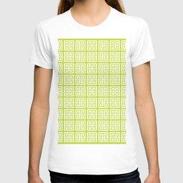 Lime Green Greek Key Pattern T-shirt