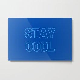 Stay Cool Facial Mask Metal Print