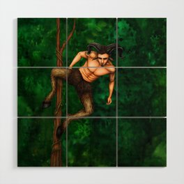 Pole Creatures - Faun Wood Wall Art